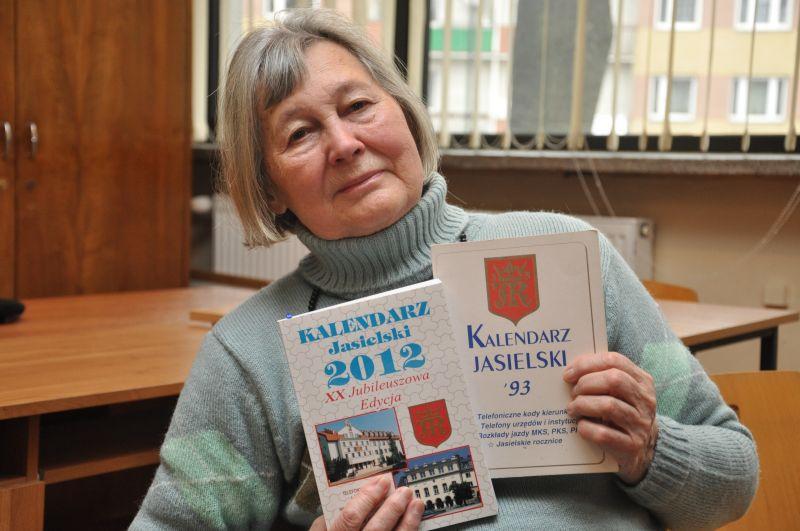 Felicja Jałosińska z Kalendarzem Jasielskim