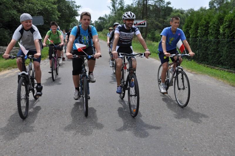 Rajd rowerowy w gminie Osiek Jasielski