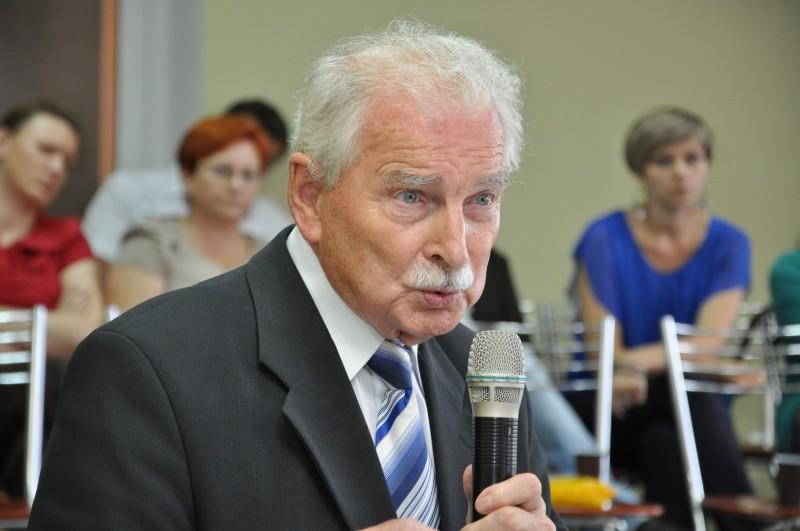 Biegły rewident Ludwik Demianiuk, który przygotował audyt dla Zarządu Powiatu